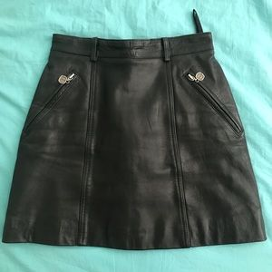 Genuine leather skirt size 4